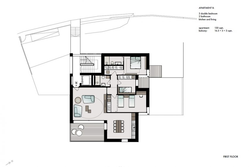 Lake Como San Siro brand new apartments in residence with pool (9)