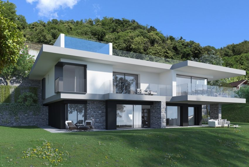Lake Como Vercana Domaso. Brand new and modern apartment in residence with pool and great lake view (5)