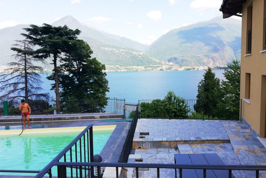 lake Como brand new penthouse with pool, private garden, garage and lake view. 100 mt from the beach (4)