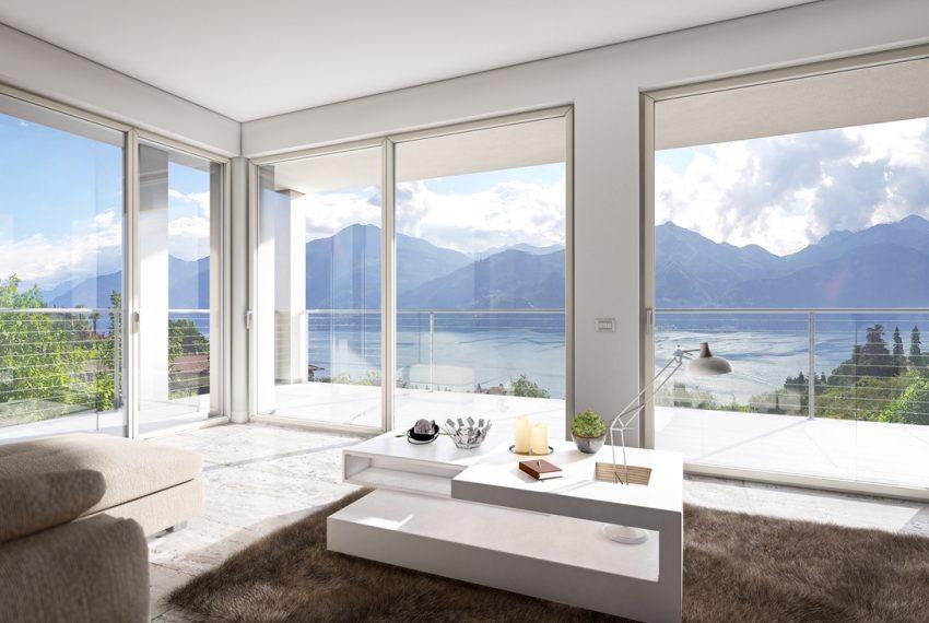 Lake Como Menaggio modern villa under construction with pool, garden and amazing lake view. (2)
