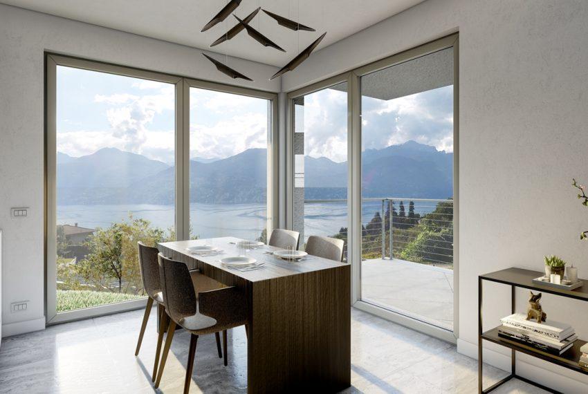 Lake Como Menaggio modern villa under construction with pool, garden and amazing lake view. (3)