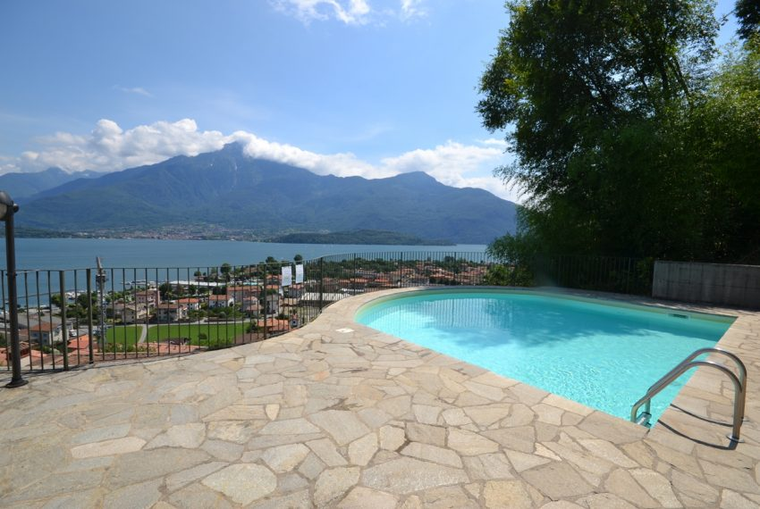 Lake Como Vercana apartment in residence with pool and large lake vie wterrace (8)