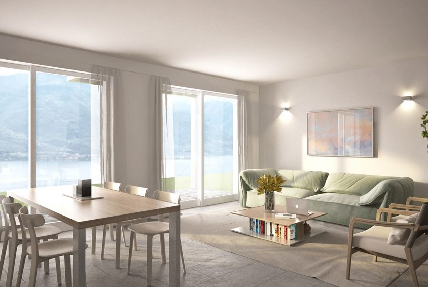Lake Como apartment in residence with pool. Private parking, garden and lake view (6)